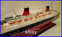 SS FRANCE SPECIAL EDITION With Lights Model 40 Handcrafted Wooden Ship Model