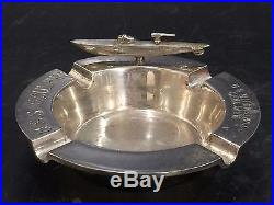 SUNK uss sculpin submarine model ashtray launching Portsmouth NH WWII Antique