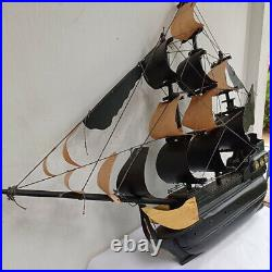 Scale 1/50 Dark Dragon Wooden Pirate Ship Nautical Model Boat Kit Black Sails