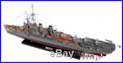 Scale Swedish Navy HMS Gotland Handcrafted War Ship Display Model 39 NEW