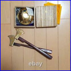 Self-Defense Force Gold Cup 24k Axe Japan Maritime from Japan Free Shipping