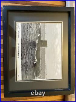 Signed photo of uss nautilus ssn 571 by vadmiral eugene wilkinson Nuclear Sub