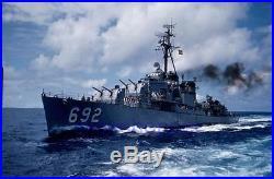 Slide Photo Amazing View of USN Navy Destroyer USS Sumner DD-692 Underway 1950s