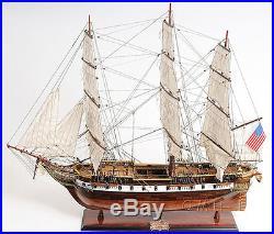 Sloop Of War USS Constellation Frigate Wooden Tall Ship Model 56 Hand Built