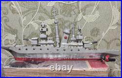 Soviet Ship Model Metal Ship USSR handmade