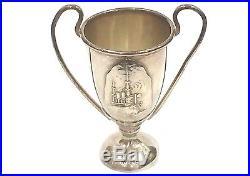 Spanish American War USS Iowa Battleship Christening Launching Sterling Cup e25