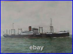 Ss Feliciana Steamer Built 1909 Sunk By U19 In 1916 W Haig Parry 1922