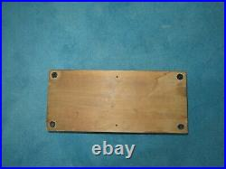 Ss William Harper Nautical Wood Box Delta Ship Building Launched 1943 Silver Tag