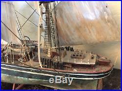 Stunning Vintage Model Ship (Rustic Look)