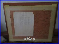 Subic Bay U. S. Navy Base Arial Photograph Uss Kitty Hawk Framed MID Century