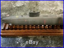 Submarine model display HMS Triumph submariner desk display desk model