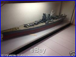 Super rare Japan Japanese Imperial Navy battleship YAMATO model with glass case