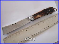 Superb Large Victorian Sheffield Square Point Sailor's Rope Knife T. TURNER