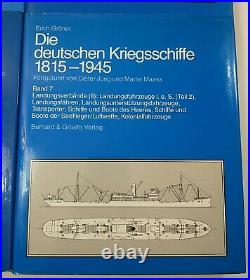 The German Warships 1815-1945 Die Deutschen Kriegsschiffe Erich Groner IN GERMAN