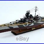 Tirpitz Bismarck-class Battleship 40 Camouflage Handmade Wooden Warship Model