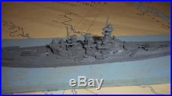U. S. Miniature Ship Models Ww11 So Salem Studios Lead Ships N Carolina 7 1/2 In