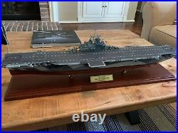 U. S Navy Aircraft Carrier USS Yorktown Wood 30 Model Ship Assembled
