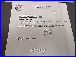 U S Navy / Uss Theodore Roosevelt Cvn-71 Signed Photo By Capt. C S Abbot 1991