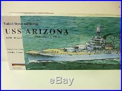 U. S. S. ARIZONA United States WWII Battleship 1/350 scale BANNER Models kit