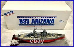U. S. S. Arizona BATTLESHIP MODEL -SIGNED Limited Edition Ship Display BOXED