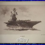U. S. S. Intrepid (CVS-11) R. G. Smith Military Art SIGNED Print 16 x 20