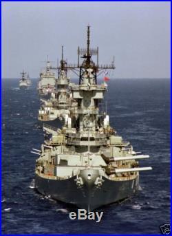 US NAVY USN BATTLESHIP USS NEW JERSEY (BB-62) 8X12 PHOTOGRAPH