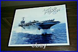 US NAVY USN aircraft carrier USS Carl Vinson (CVN 70) 10 x 8 Signed PHOTOGRAPH