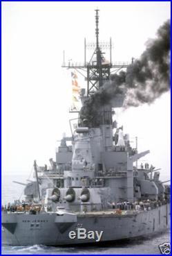 US NAVY USN battleship USS NEW JERSEY (BB-62) 12X18 Photograph