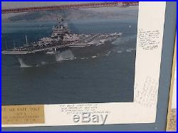 US NAVY USS CONSTELLATION (CV-64) SIGNED PICTURE Lt. BOLT GOLDEN GATE