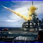 US Navy Battleship USS NEW JERSEY (BB 62) Harpoon (RGM-84A) missile 8X12 Photo