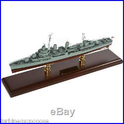 US Navy Fletcher Class Destroyer Desk Top Display War Ship 1/192 Boat WW2 Model