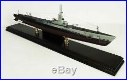 US Navy Gato Class Desk Display Submarine Sub 1/150 Wood ES Boat Ship Boat Model