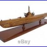 US Navy Gato Class USS Wahoo SS-238 WWII Submarine Mahogany Wood Wooden Model