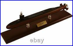 US Navy Ohio Class SSN Desk Top Display Submarine Ship 1/350 Wood Sub ES Model