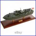 US Navy PT-109 John F Kennedy Desk Top Display 1/40 Torpedo Boat Ship WWII Model