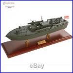 US Navy PT-109 WWII JFK TORPEDO BOAT Assembled 24 Built Wooden Model Ship New
