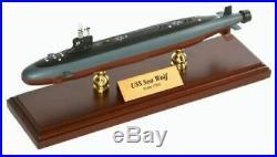 US Navy Seawolf Class SSN Desk Display Submarine Sub Boat 1/350 ES Ship Model
