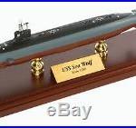 US Navy Seawolf Class SSN Desk Display Submarine Sub Ship Boat 1/350 ES Model