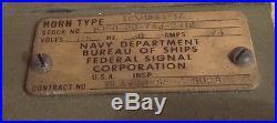 US Navy Submarine Dive Horn Sound DBF Klaxon Type H-S54