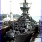 US Navy USN Battleship USS NEW JERSEY (BB 62) enters Panama Canal 8X12 Photo