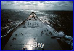 US Navy USN forward deck BATTLESHIP USS NEW JERSEY (BB-62) 12X18 Photograph