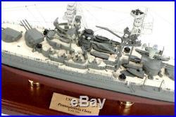 US Navy USS Arizona BB-39 Desk Display Battleship Ship 20.25 Boat Wood Model