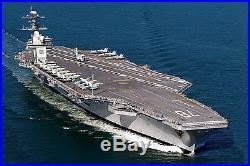 US Navy USS Gerald R Ford CVN-78 Desk Display 1/800 Aircraft Carrier Ship Model