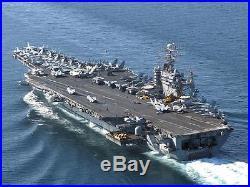 US Navy USS Theodore Roosevelt CVN-71 Desk Top 1/430 Aircraft Carrier Ship Model