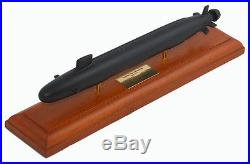 US Navy Virginia Class SSN Desk Display Submarine Sub Boat 1/350 Wood ES Model