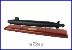 US Navy Virginia Class SSN Desk Display Submarine Sub Ship Boat 1/192 Wood Model