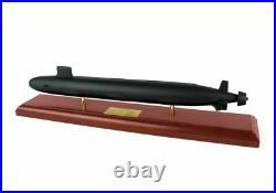 US Navy Virginia Class SSN Desk Top Display Submarine Ship 1/192 Wood ES Model