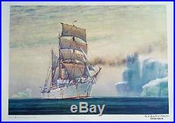USCGC BEAR Nautical Print On The Alaska Patrol LARGE 24x20