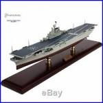 USN INTREPID AIRCRAFT CARRIER Battleship Assembled 30 Built Wooden Model New