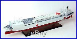 USNS Mercy T-AH-19 Hospital Ship 36 Wood Model Maritime Nautical Decor